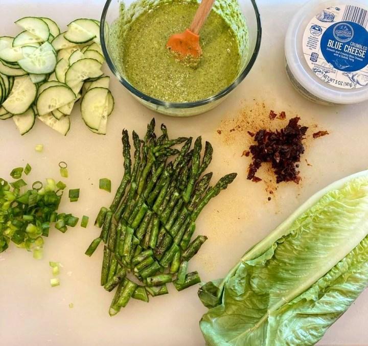 Grilled Asparagus Salad Ingredients