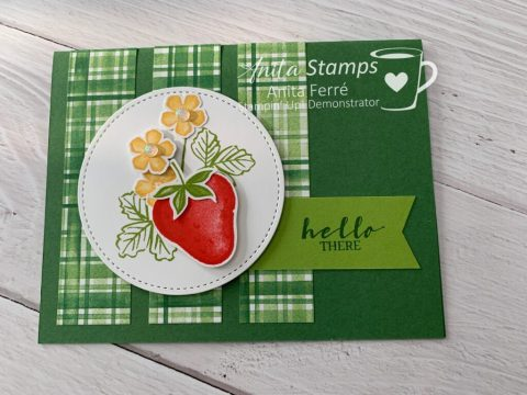 Sweet Strawberry Bundle, Strawberry Builder Punch, Stitched Shapes Dies
