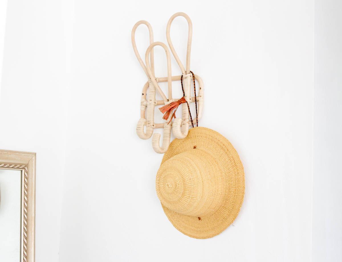 boho desert inspired hanging hooks with hat