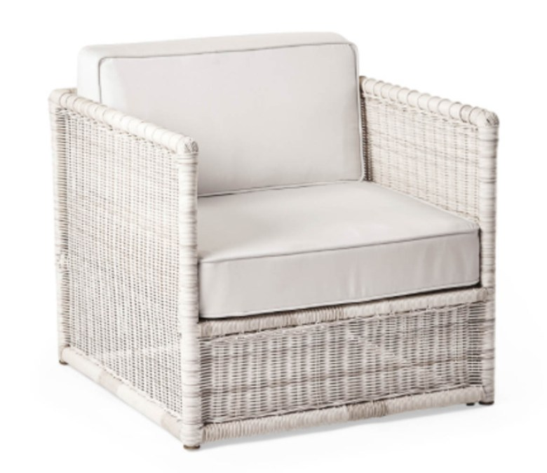 serena and lily pacifica side rattan white chair