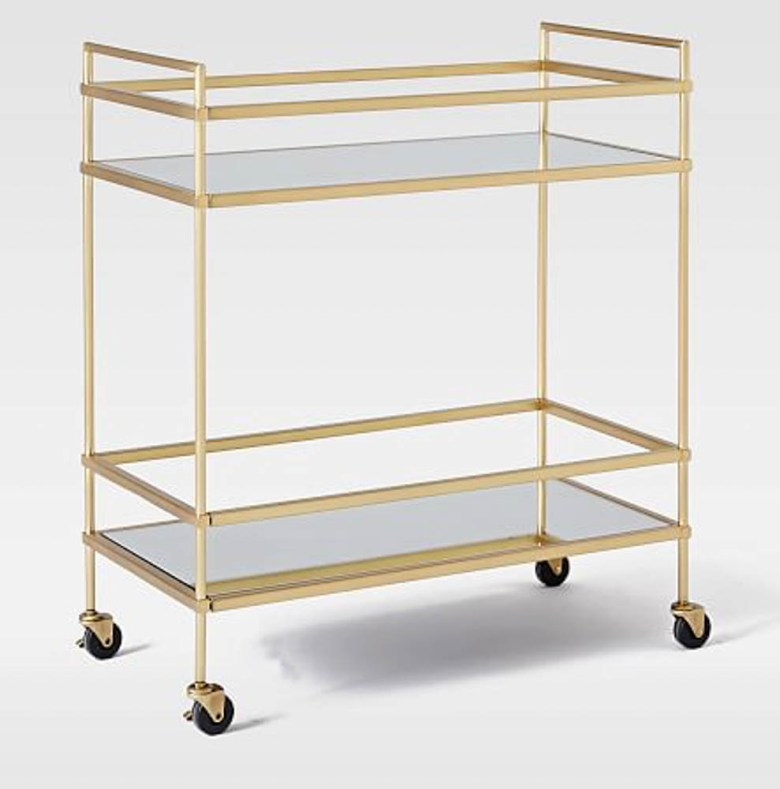 west elm gold bar cart