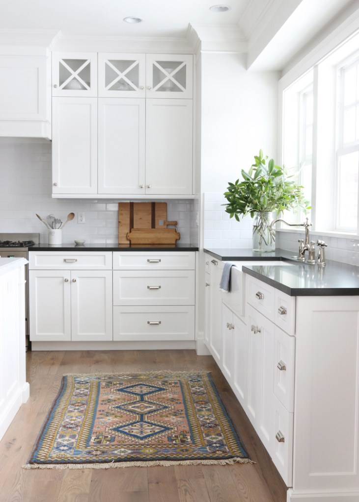 white kitchen vintage runner amber interiors