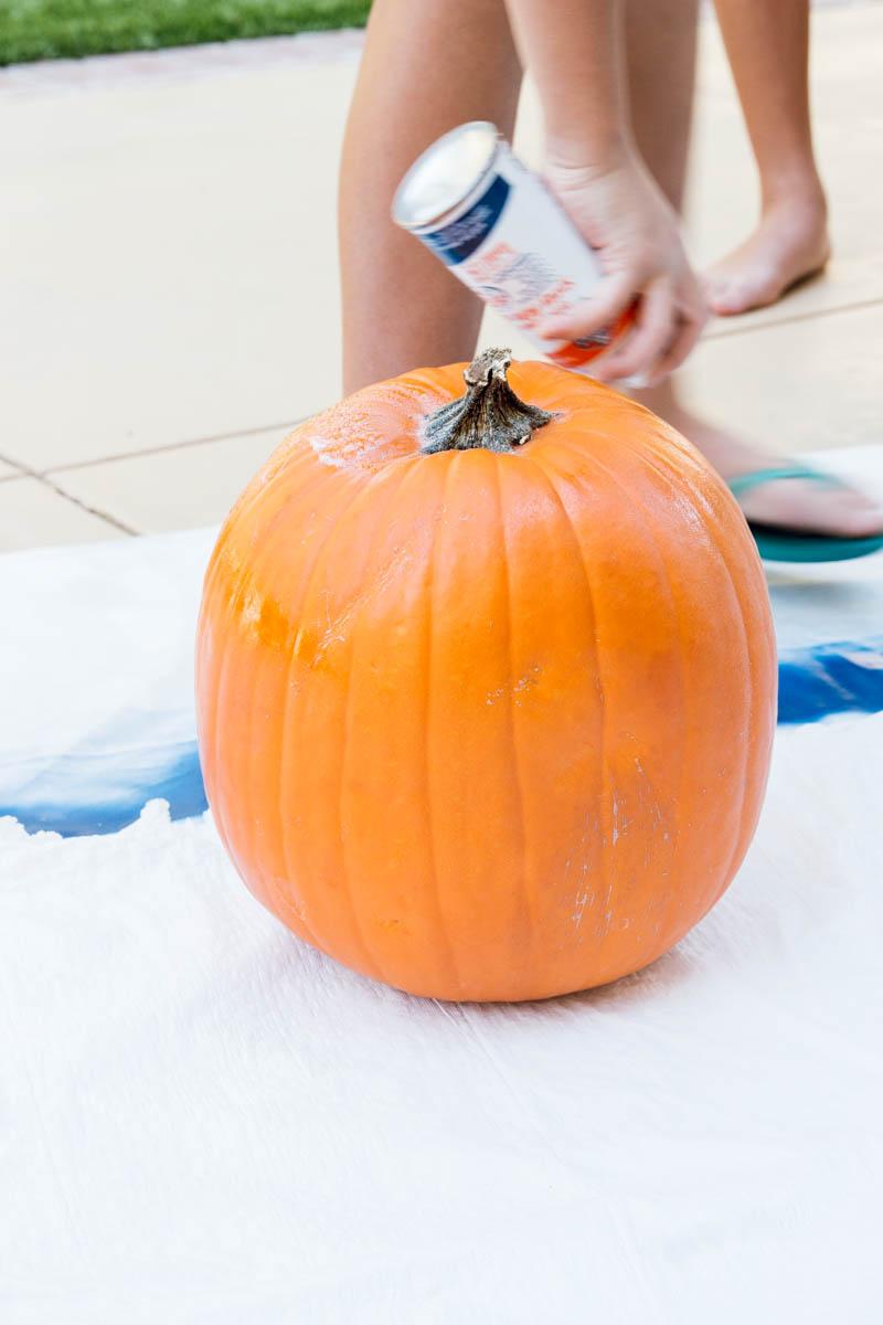 DIY glitter pumpkin halloween