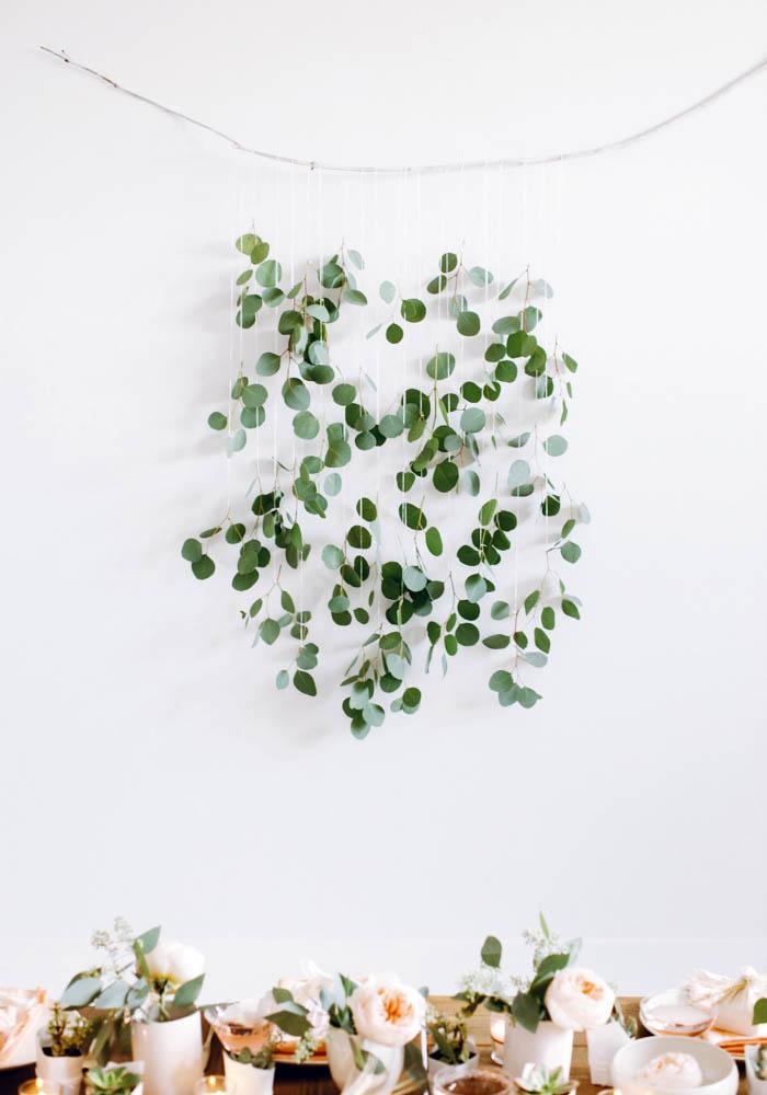 eucalyptus wall hang pretty floral arrangement branch hang
