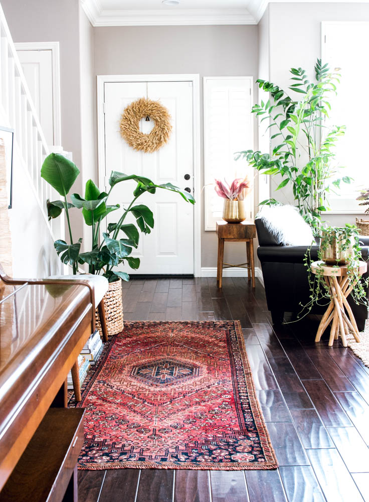 target autumn wreath anita yokota vintage rug entry way