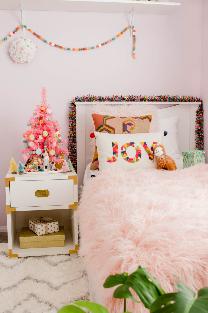 girls bedroom boho target holiday bedroom pink tree pbkids champagne night stand