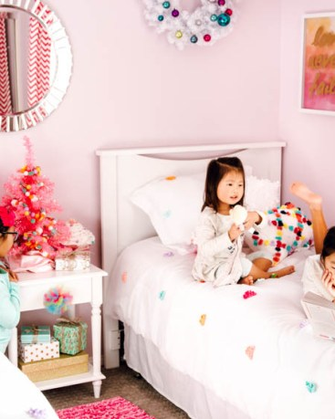 Girly Holiday Bedroom Makeover