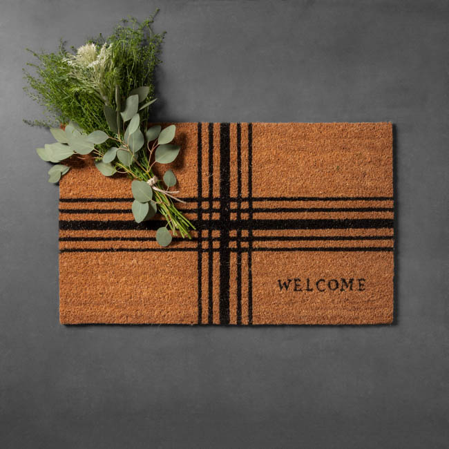 target welcome mat magnolia hand and hearth holiday plaid