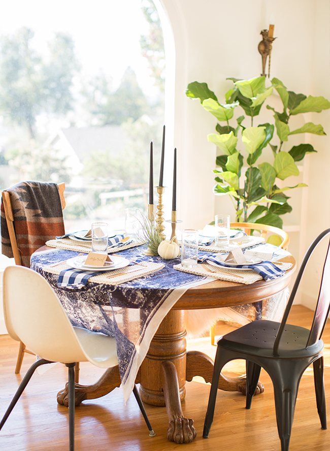 eclectic boho table setting home decor fiddle leaf