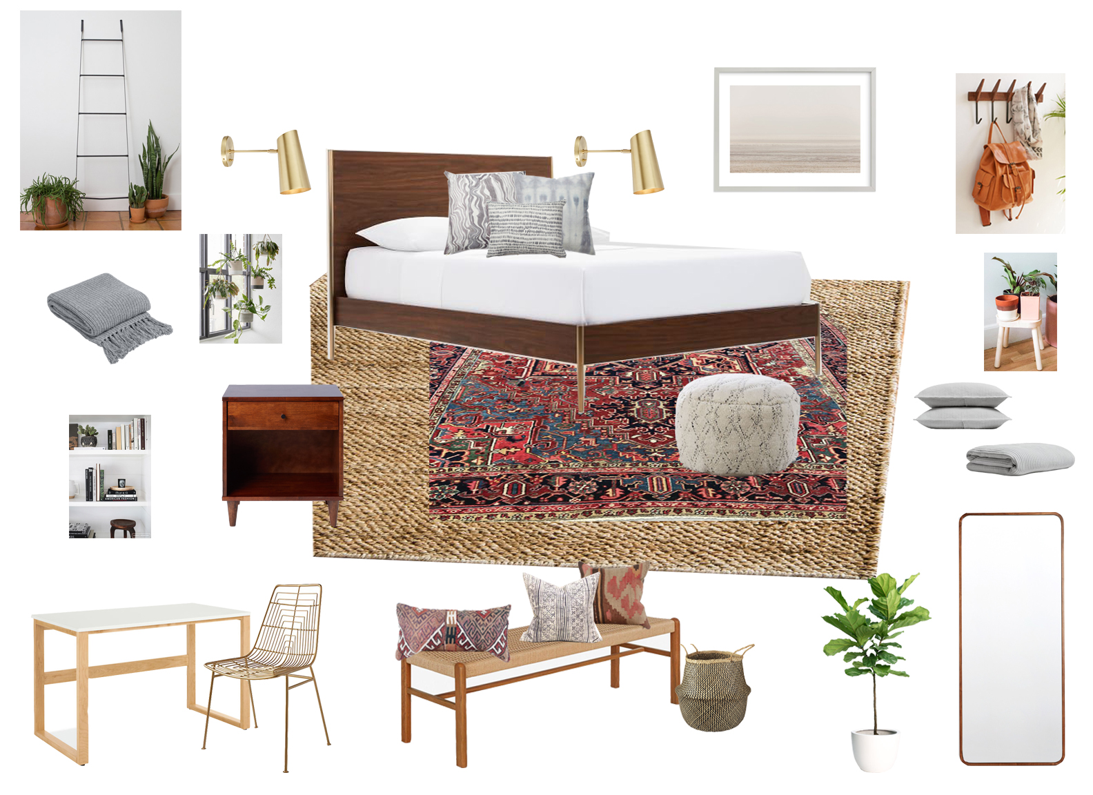 anita yokota master bedroom mood board california eclectic design