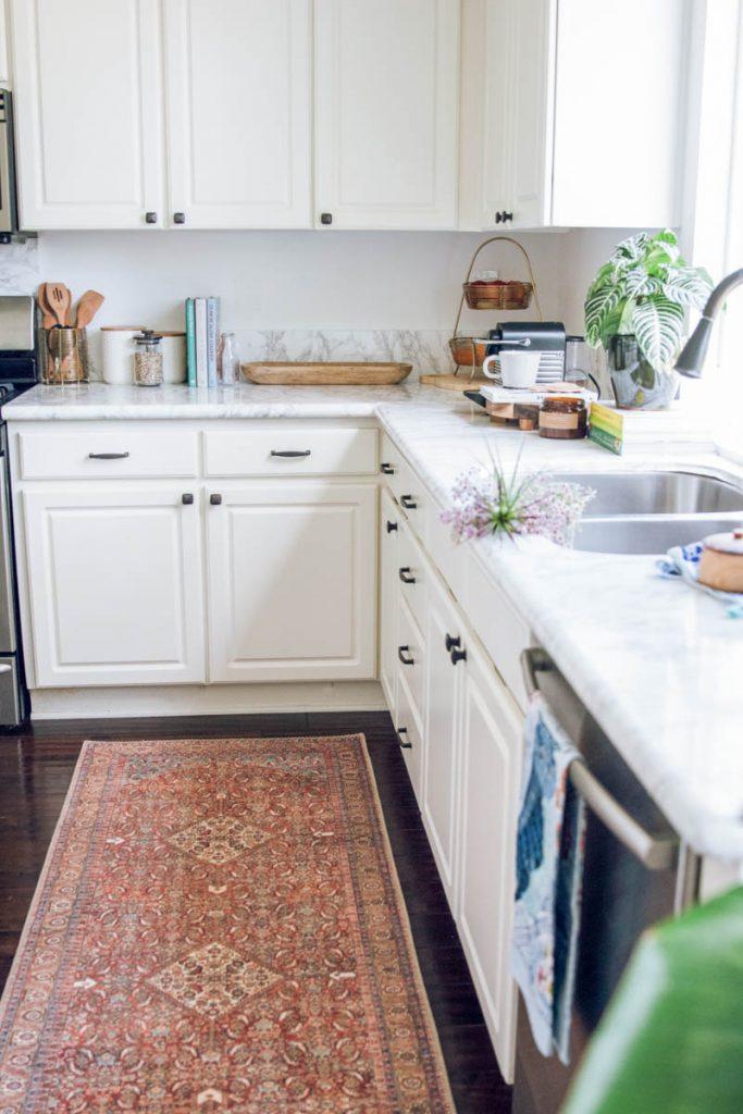 loloi runner white kitchen