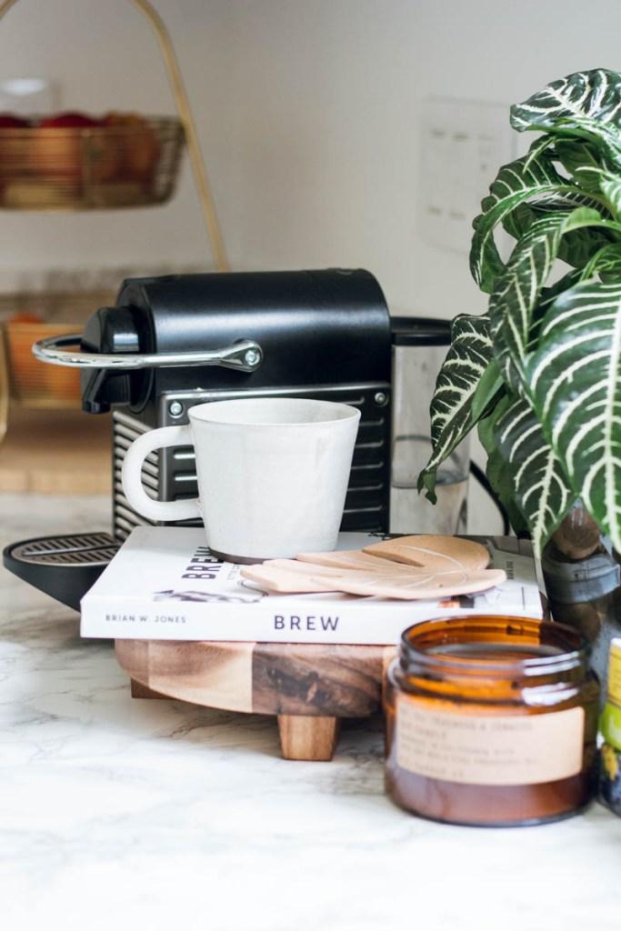 Nespresso coffee station Jenni Kayne mug pf candle