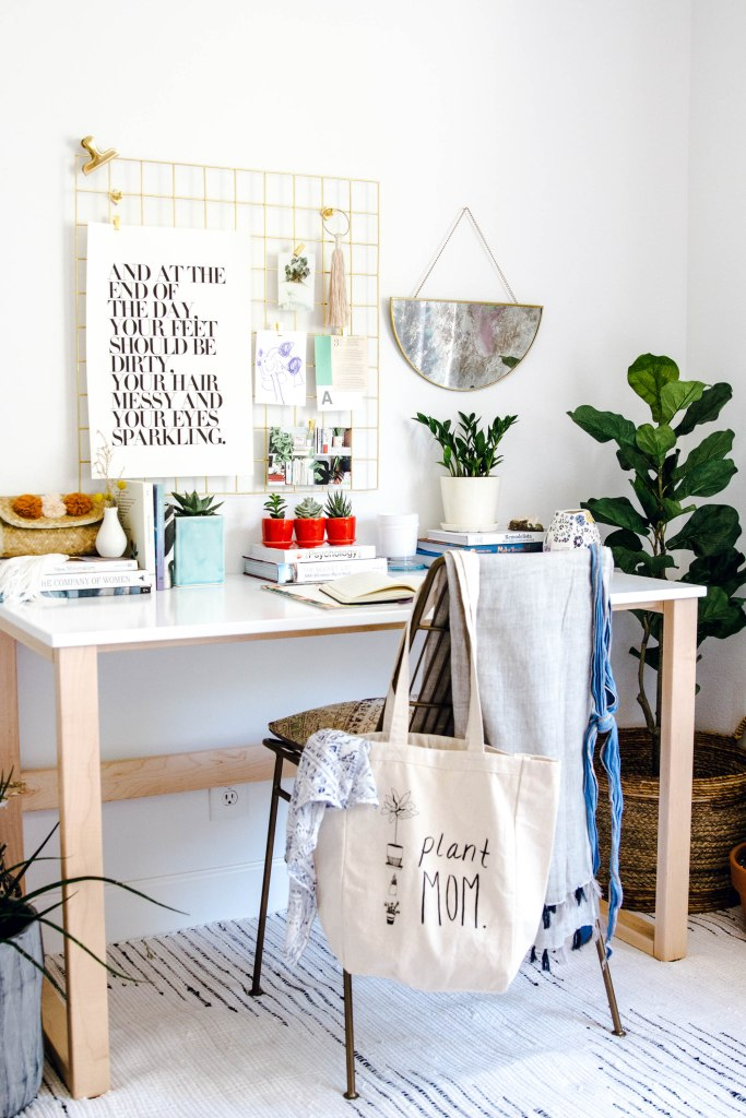 the sill plants anita yokota dreamy workspace domino crate and barrel chair urban outfitters rug