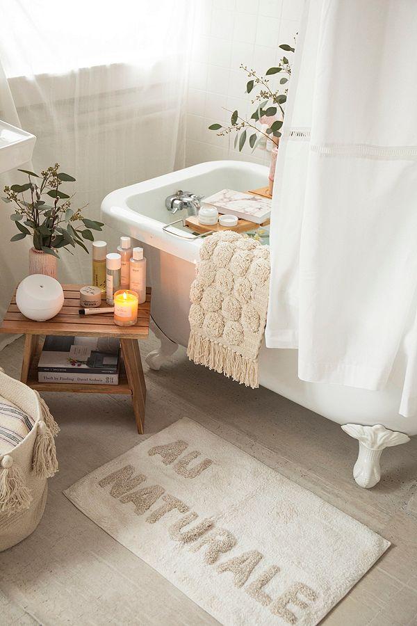 UO Home au natural bath mat
