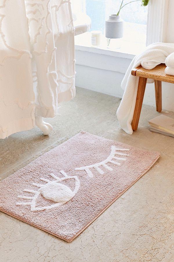 UO home bath wink bath mat