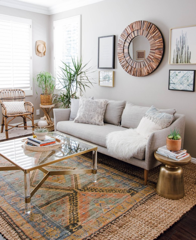 boho eclectic living room
