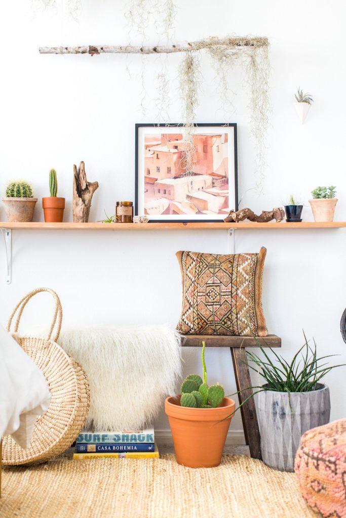 minted art DIY branch wall moroccan art jute rug