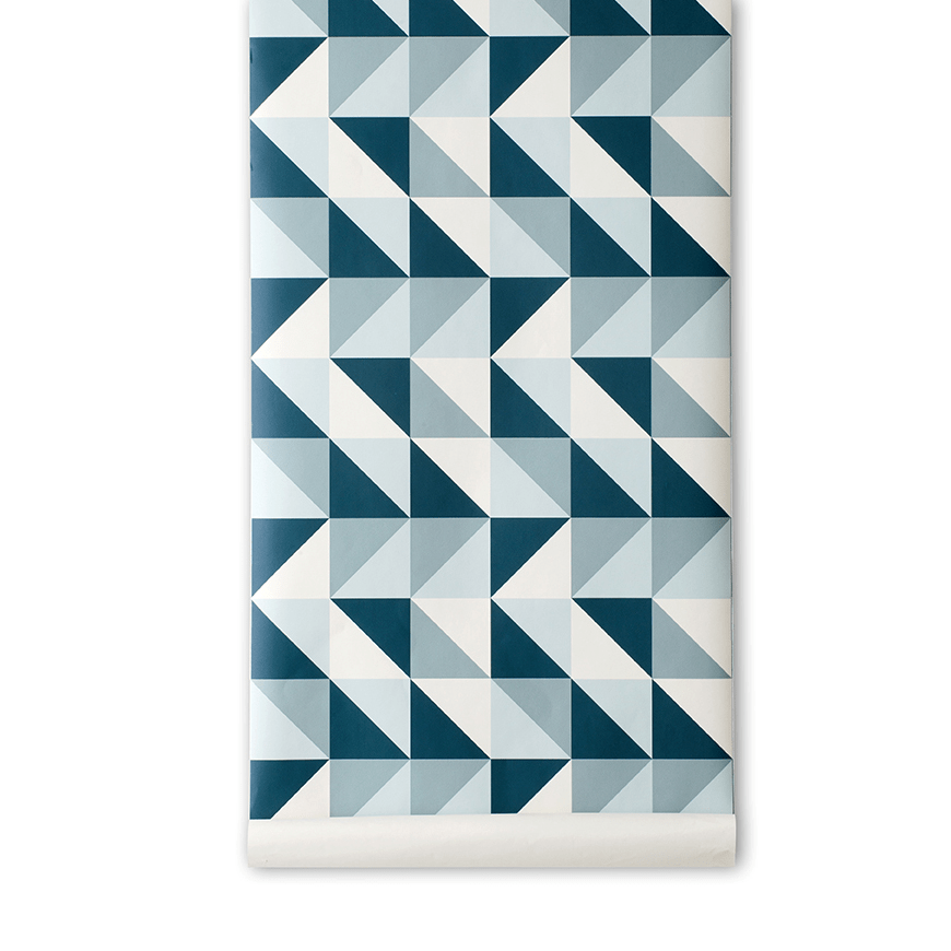 teal geometric shapes