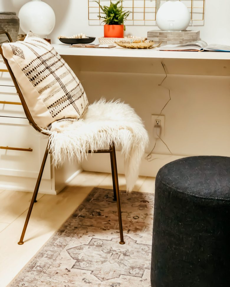 domino chair Loloi Hathaway rug west elm stool wfh office