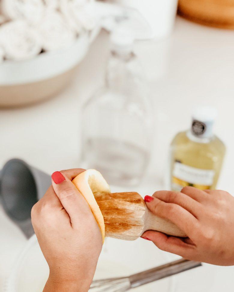 diy home cleaner spray lemon essential oils