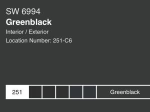 Anita Yokota method Sherwin Williams green black paint