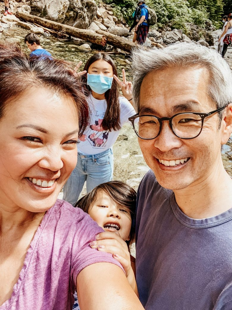 Family selfies on the trail