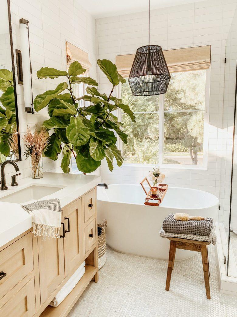 A bright, clean bathroom