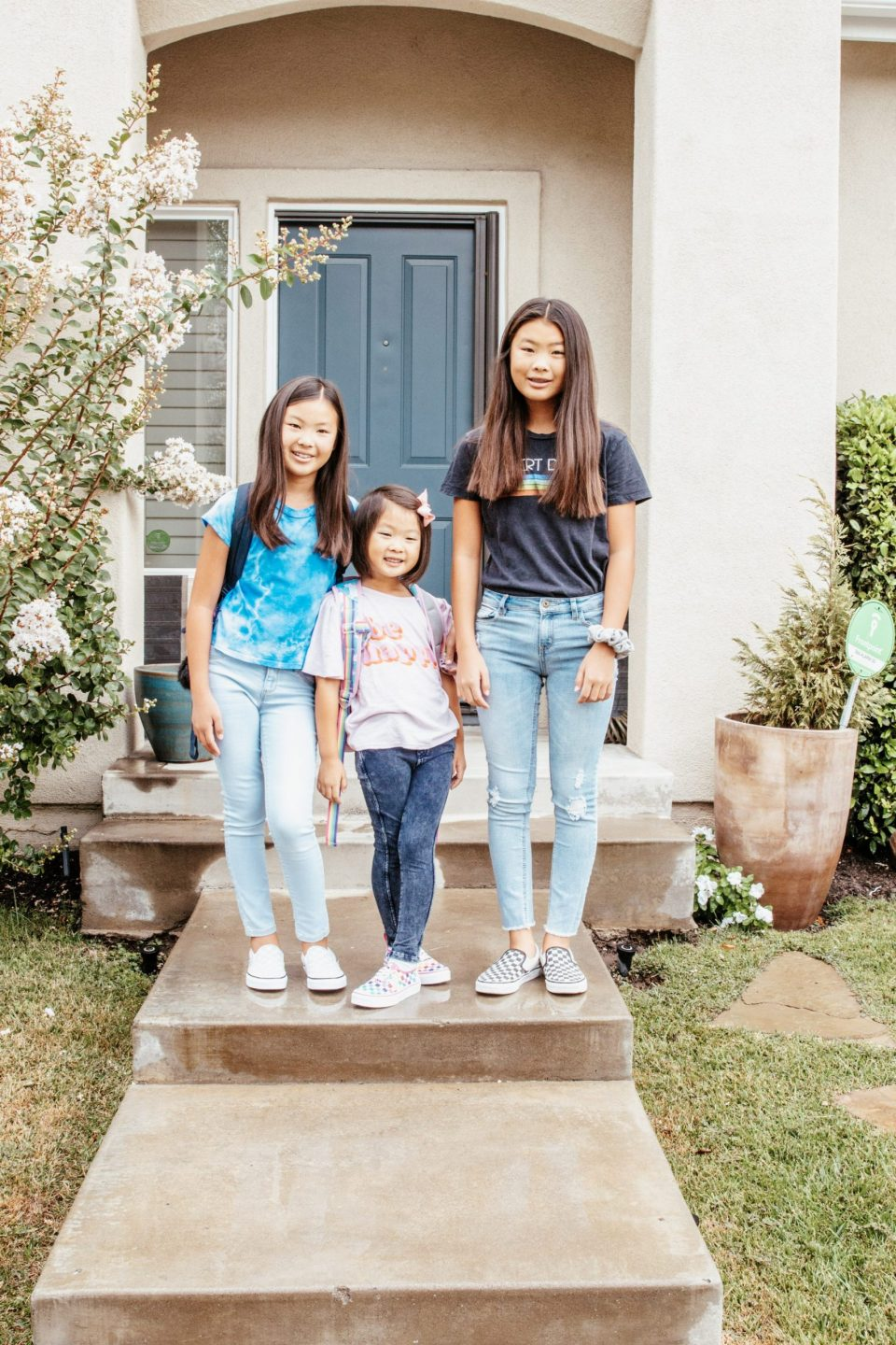 The girls' back to school photo from 2019