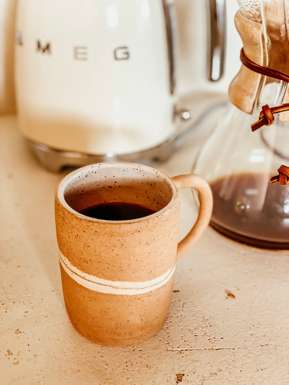 preparing coffee for my morning sun ritual