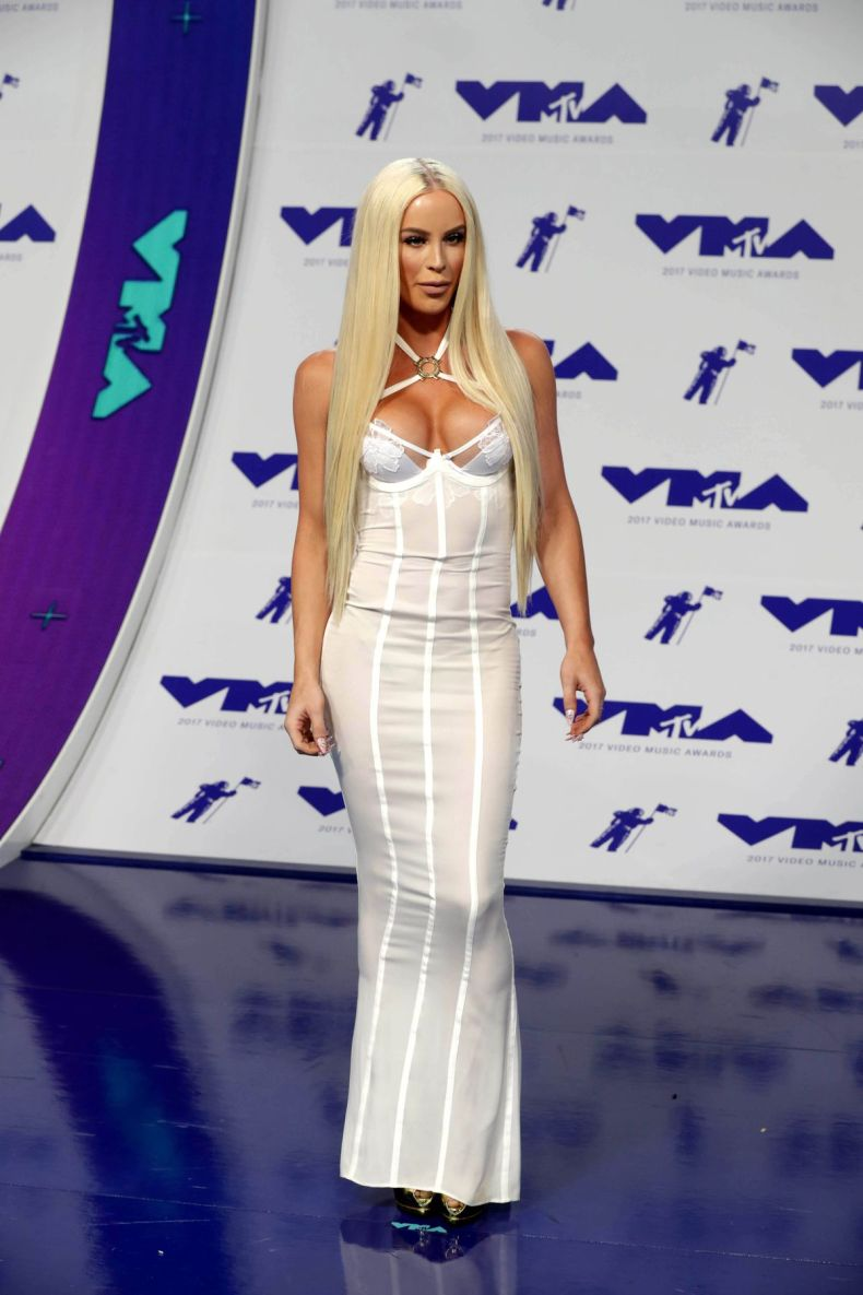 Mandatory Credit: Photo by MIKE NELSON/EPA-EFE/REX/Shutterstock (9028275aq) Gigi Gorgeous Red Carpet - MTV Video Music Awards 2017, Los Angeles, USA - 27 Aug 2017 Gigi Gorgeous arrives on the red carpet for the 34th MTV Video Music Awards (VMA) at The Forum in Inglewood, California, Los Angeles, USA, 27 August 2017.