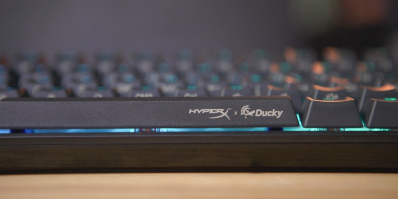 HyperX and Ducky accents tastefully surround the keyboard.