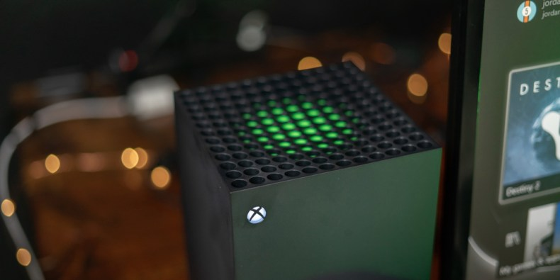 Top of the Xbox Series X