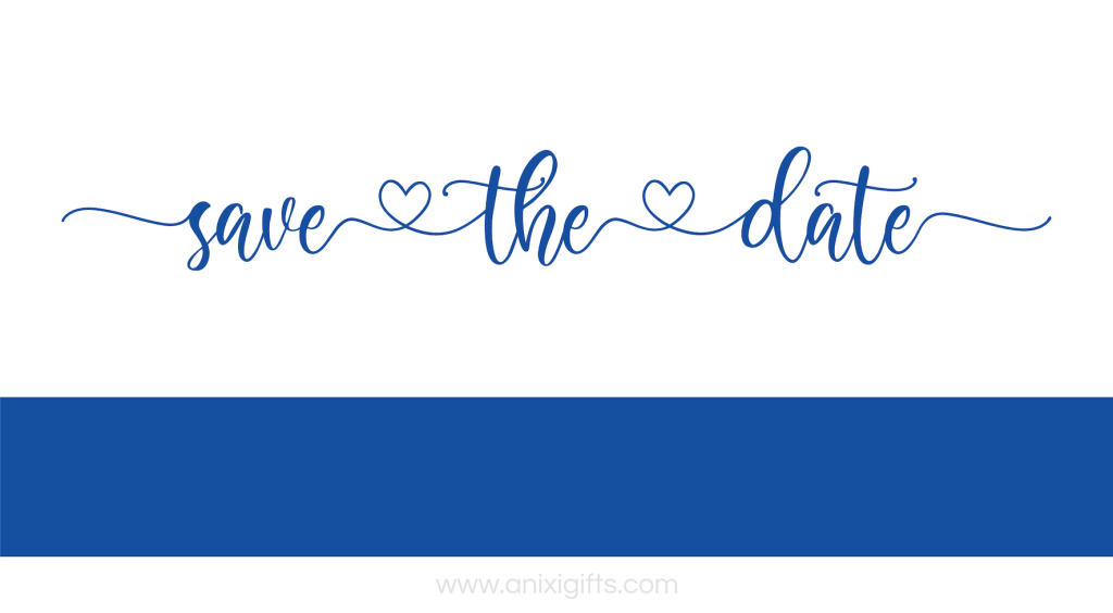 save the date blue