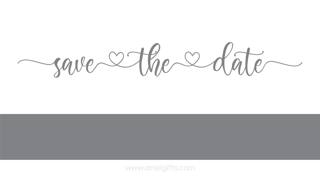 save the date grey