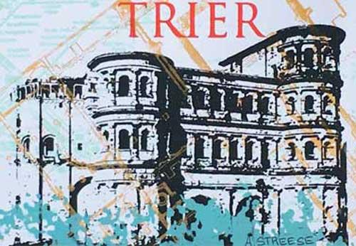 Trier 8x5,5 Porta Nigra Blau
