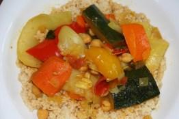 124.Gemüse auf Couscous