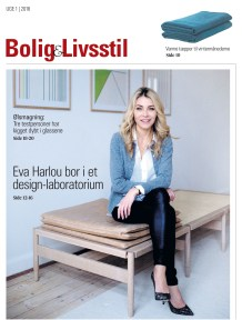 Arkitekt og designer Eva Harlou var første coverhistorie i JFMs nye magasin Bolig og Livsstil i januar 2018. Forsidefoto er taget af Yilmaz Polat/JFM
