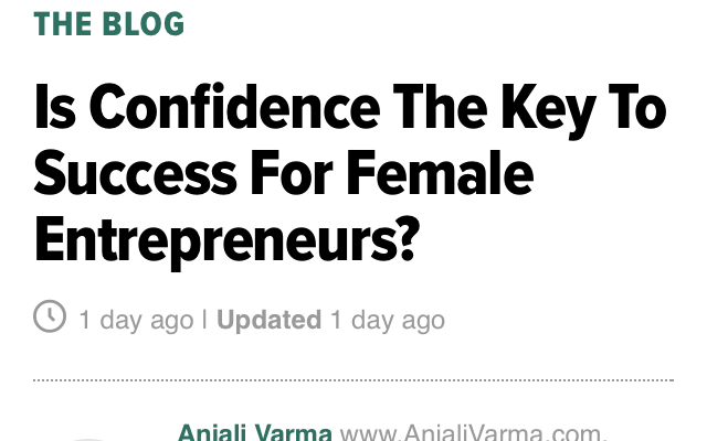 Is Confidence The Key To Success For Female Entrepreneurs?