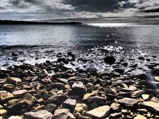 Drama at rocky coastline