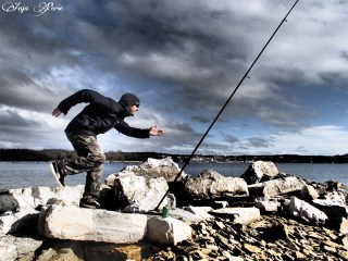 A bit of dramatic fisherman craziness =)