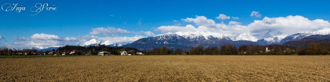 Panoramic view on Kamnik-Savinja Alps