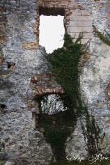 Windows at Boštanj castle
