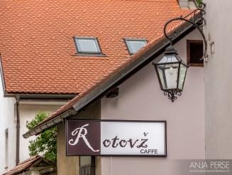 Rotovž Caffe sign.