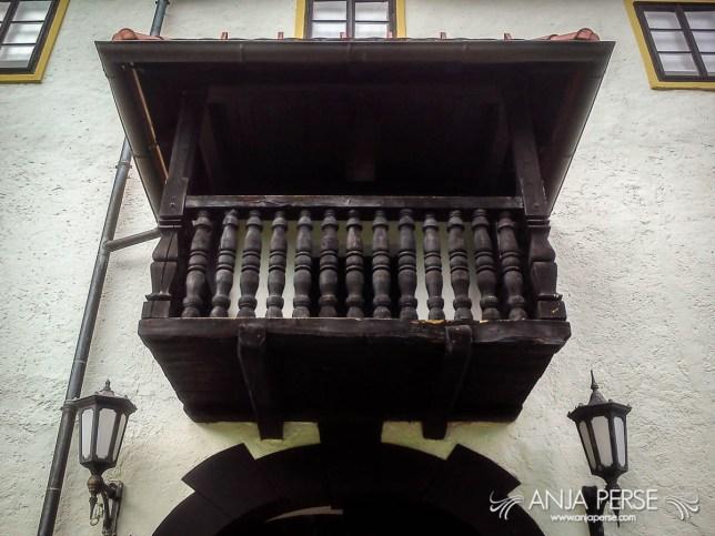 Bogenšperk castle balcony.