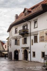 Old buildings in Škofja Loka.
