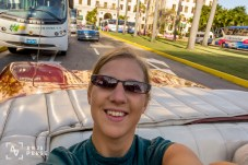 Old timer convertible car ride to National hotel, Havana, Cuba