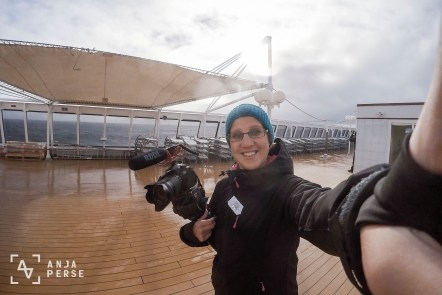 Filming the total solar eclipse somewhere in Norwegian sea