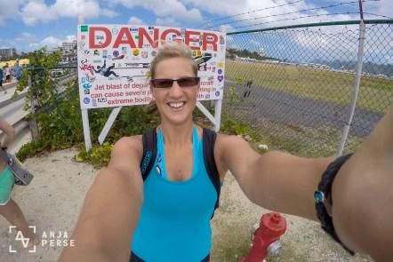 Dangerous Maho Beach, St. Maarten, Caribbean