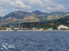 View at the beach and hills at Subic.