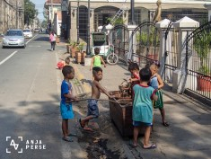 Just random kids playing at the street...